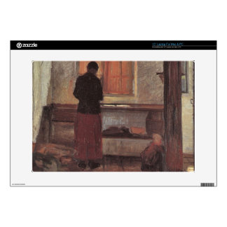 "Girl in the kitchen by Anna Ancher 15"" Laptop Decal"