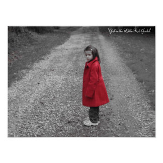 Girl in the Little Red Jacket Print