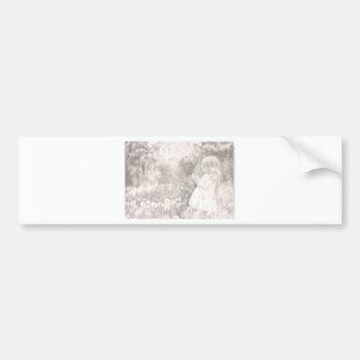 Girl in the Meadow Bumper Sticker
