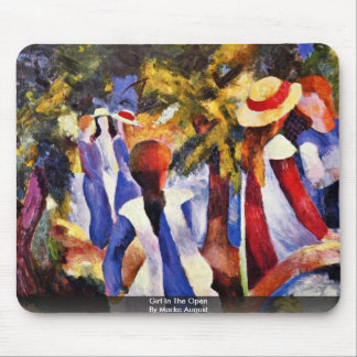 Girl In The Open By Macke August Mouse Pad