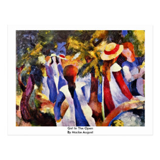 Girl In The Open By Macke August Postcards