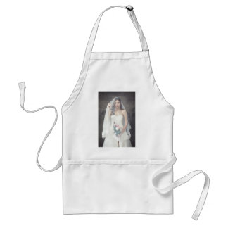 Girl in the wedding dress adult apron
