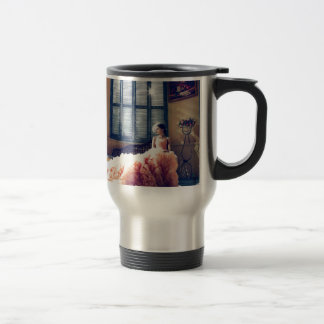 Girl in the wedding dress travel mug