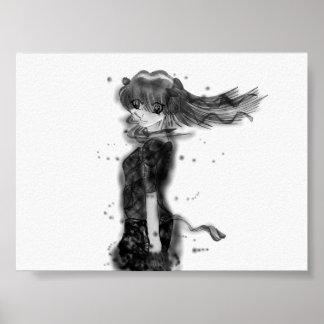 Girl in the Wind Print