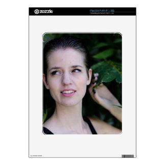 Girl in the Woods iPad Skin