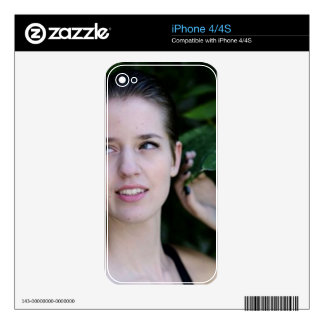 Girl in the Woods Skin For The iPhone 4