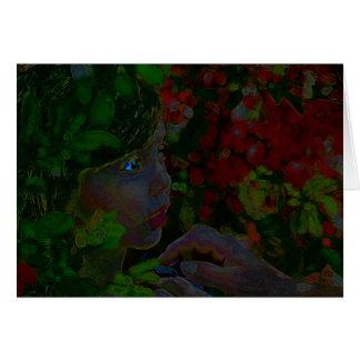 Girl in Tropics Card