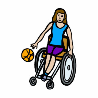 girl in wheelchair basketball photo cut outs