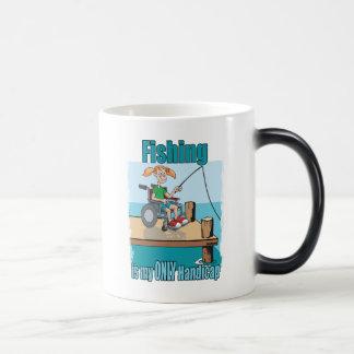 Girl in WheelChair Fishing Coffee Mugs