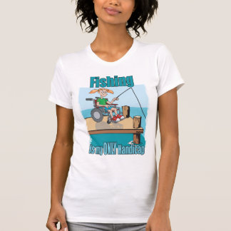 Girl in WheelChair Fishing T-Shirt