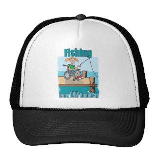 Girl in WheelChair Fishing Trucker Hat
