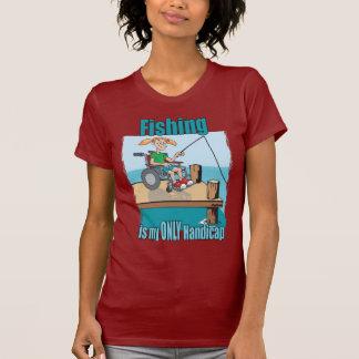 Girl in WheelChair Fishing T-shirts