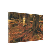 Girl in white in the woods, Vincent van Gogh Gallery Wrapped Canvas