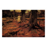 Girl in white in the woods, Vincent van Gogh Posters
