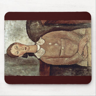 Girl In Yellow Dress By Modigliani Amedeo Mouse Pad
