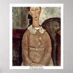 Girl In Yellow Dress By Modigliani Amedeo Print