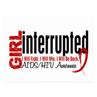 Girl Interrupted 1 AIDS Postcard