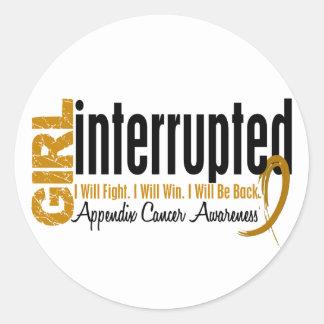 Girl Interrupted 1 Appendix Cancer Round Sticker