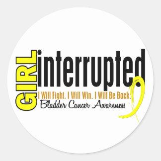 Girl Interrupted 1 Bladder Cancer Round Stickers