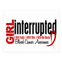 Girl Interrupted 1 Blood Cancer Postcard