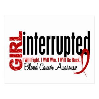 Girl Interrupted 1 Blood Cancer Postcard