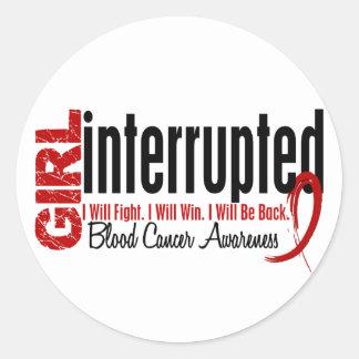 Girl Interrupted 1 Blood Cancer Round Stickers