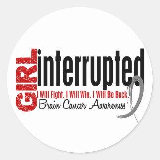 Girl Interrupted 1 Brain Cancer Round Stickers