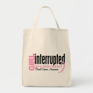 Girl Interrupted 1 Breast Cancer Tote Bag