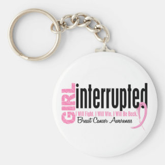 Girl Interrupted 1 Breast Cancer Key Chain