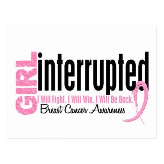 Girl Interrupted 1 Breast Cancer Postcard