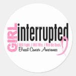 Girl Interrupted 1 Breast Cancer Sticker