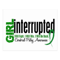 Girl Interrupted 1 Cerebral Palsy Postcard