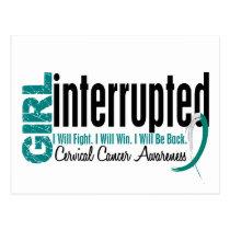 Girl Interrupted 1 Cervical Cancer Postcard