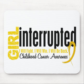Girl Interrupted 1 Childhood Cancer Mouse Pad