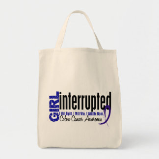 Girl Interrupted 1 Colon Cancer Tote Bags