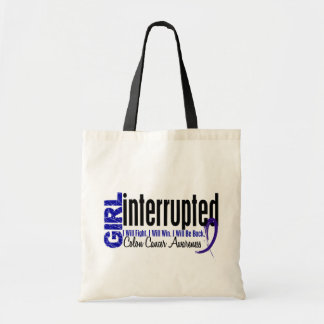 Girl Interrupted 1 Colon Cancer Canvas Bags