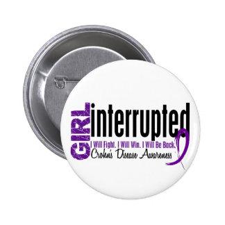 Girl Interrupted 1 Crohn's Disease Pin