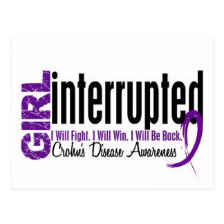 Girl Interrupted 1 Crohn's Disease Postcard