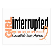 Girl Interrupted 1 Endometrial Cancer Postcard