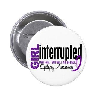 Girl Interrupted 1 Epilepsy Pinback Button