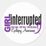 Girl Interrupted 1 Epilepsy Classic Round Sticker