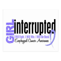 Girl Interrupted 1 Esophageal Cancer Postcard