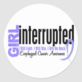 Girl Interrupted 1 Esophageal Cancer Round Stickers