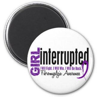 Girl Interrupted 1 Fibromyalgia 2 Inch Round Magnet