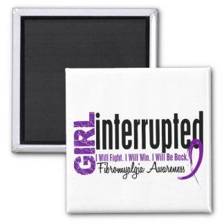 Girl Interrupted 1 Fibromyalgia 2 Inch Square Magnet