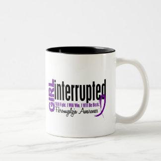 Girl Interrupted 1 Fibromyalgia Two-Tone Coffee Mug