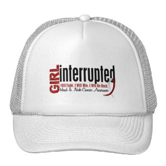 Girl Interrupted 1 Head And Neck Cancer Trucker Hat