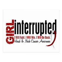 Girl Interrupted 1 Head And Neck Cancer Postcard
