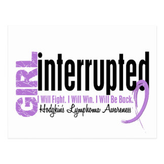 Girl Interrupted 1 Hodgkin's Lymphoma Postcard