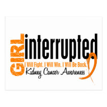 Girl Interrupted 1 Kidney Cancer Postcard